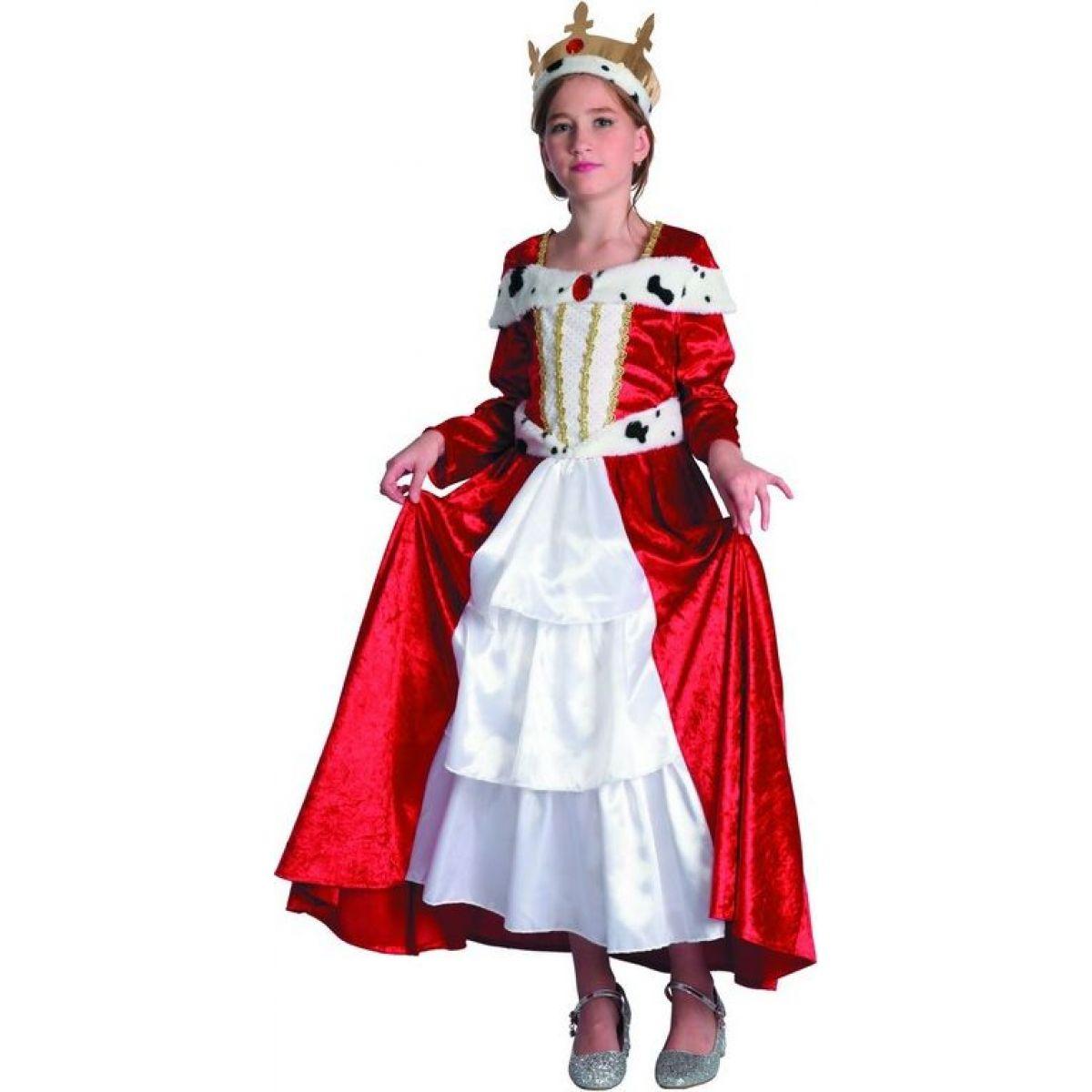 Dětský karnevalový kostým Královna 130-140 cm