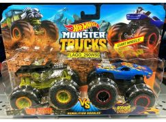Mattel Hot Wheels Monster trucks demoliční duo Bone Shaker VS Rodger Dodger
