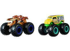 Mattel Hot Wheels Monster trucks demoliční duo Hotweiler VS Hound Hauler FYJ69