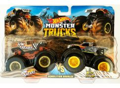Mattel Hot Wheels Monster trucks demoliční duo HW Safari VS Wild Streak