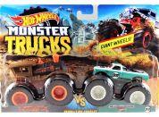 Mattel Hot Wheels Monster trucks demoliční duo LocoPunk VS Pure Musole FYJ66