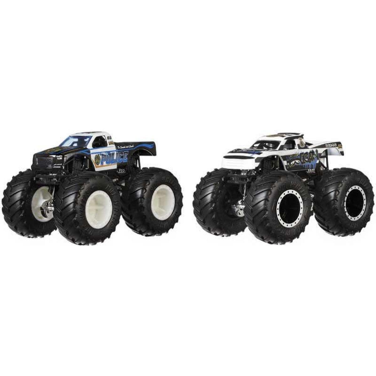Mattel Hot Wheels Monster trucks demoliční duo Police VS Holigan
