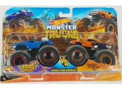 Mattel Hot Wheels Monster trucks demoliční duo Rodger Dodger vs. Dodge Charger