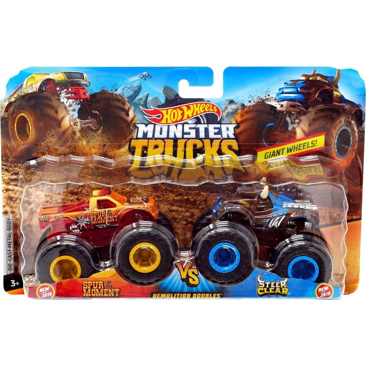 Mattel Hot Wheels Monster trucks demoliční duo Spur Moment VS Sterr Clear