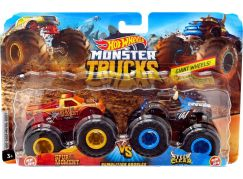 Mattel Hot Wheels Monster trucks demoliční duo Spur Moment VS Sterr Clear