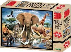 3D Puzzle Africká oáza 500 dílků