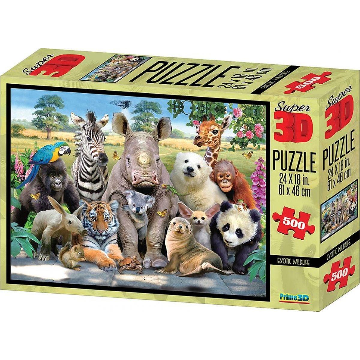 3D Puzzle Exotické 500 dílků