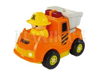 ABC Veselé autíčko s figurkou - Nákladní oranžové