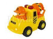 ABC Veselé autíčko s figurkou - Stavební žluté