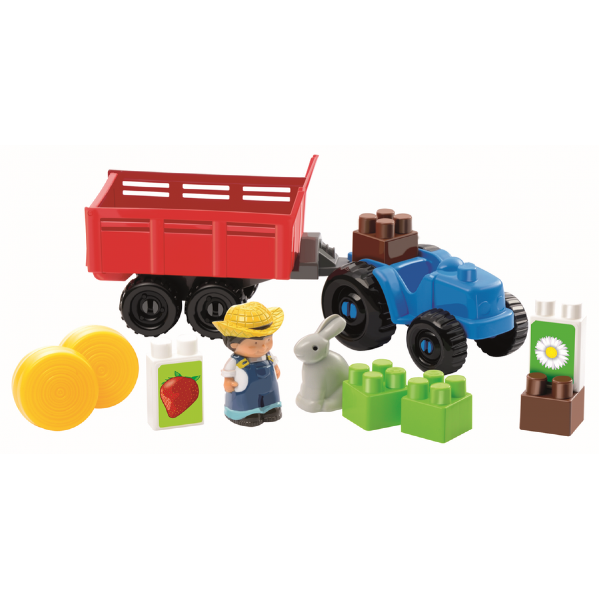 Abrick 3234 Traktor s farmářem a zajícem 22ks