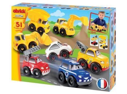 Abrick 3239 Rychlé auta - Série 7 druhů autíček 51 ks