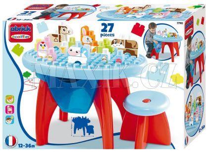 Abrick 7790 Maxi Stůl se židičkou a kostkami