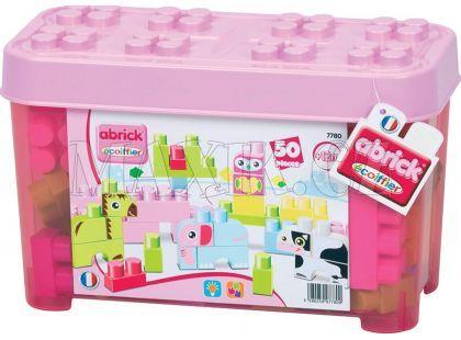 Abrick Maxi 7780 Kostky v růžovém boxu 50 ks