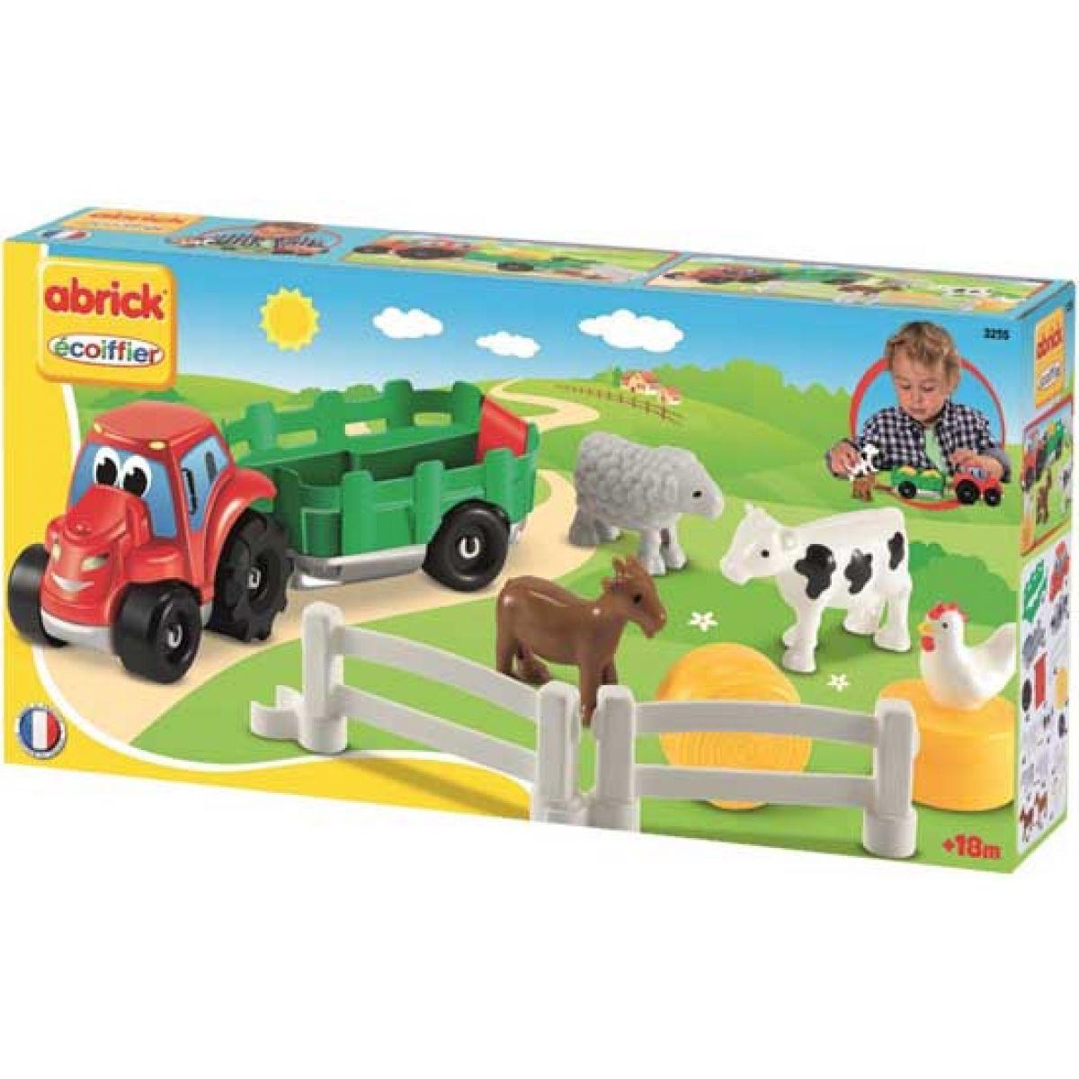 Abrick Traktor s přívěsem a zvířátky