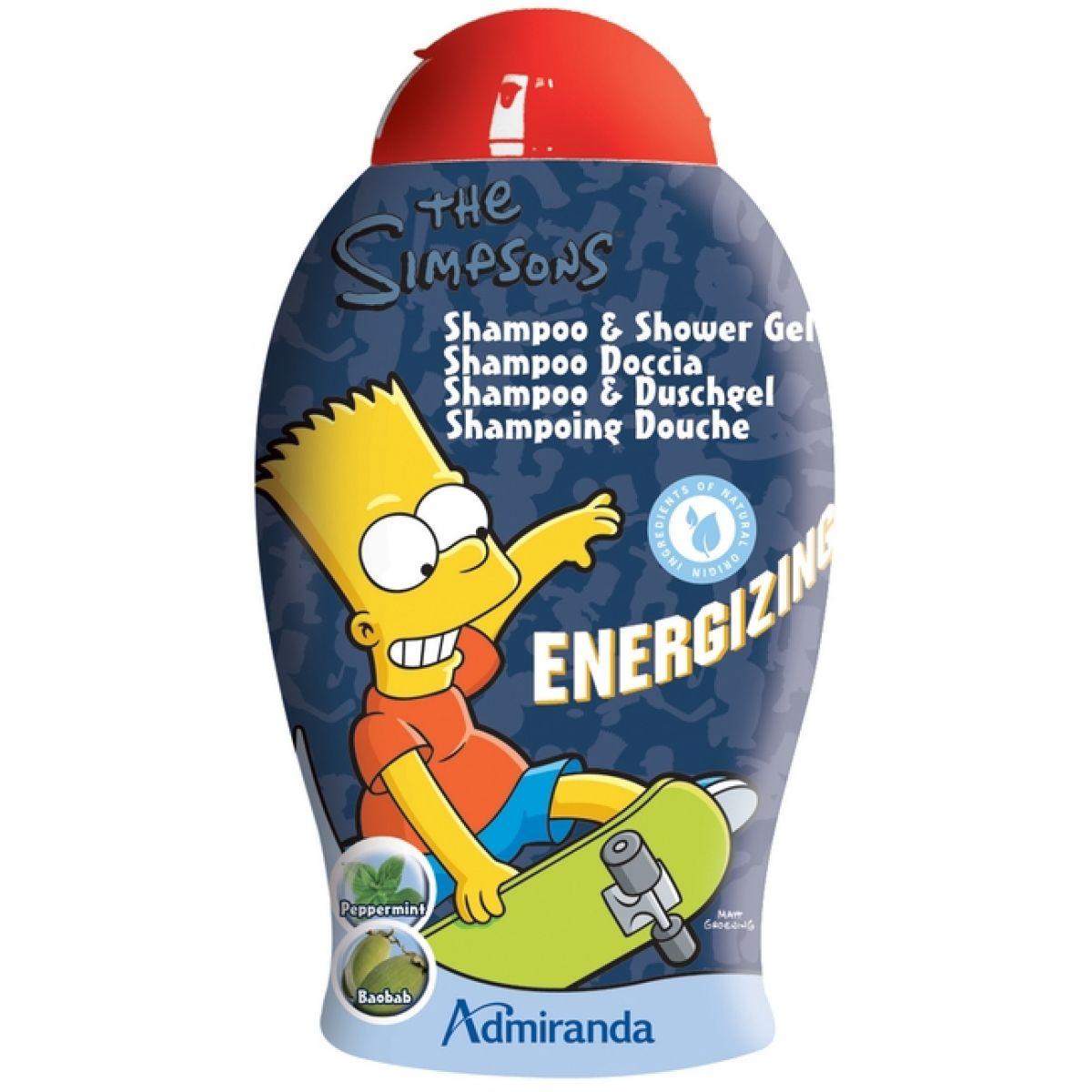 Admiranda Dětský sprchový gel a šampón Simpsonovi - Bart 2 v 1 ENERGIZING