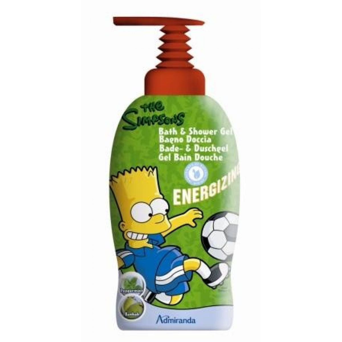 Admiranda Simpsons Dětský sprchový gel 1L Bart Energizing 2v1
