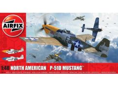 Airfix Classic Kit letadlo A05138 North American P-51D Mustang Filletless Tails 1:48