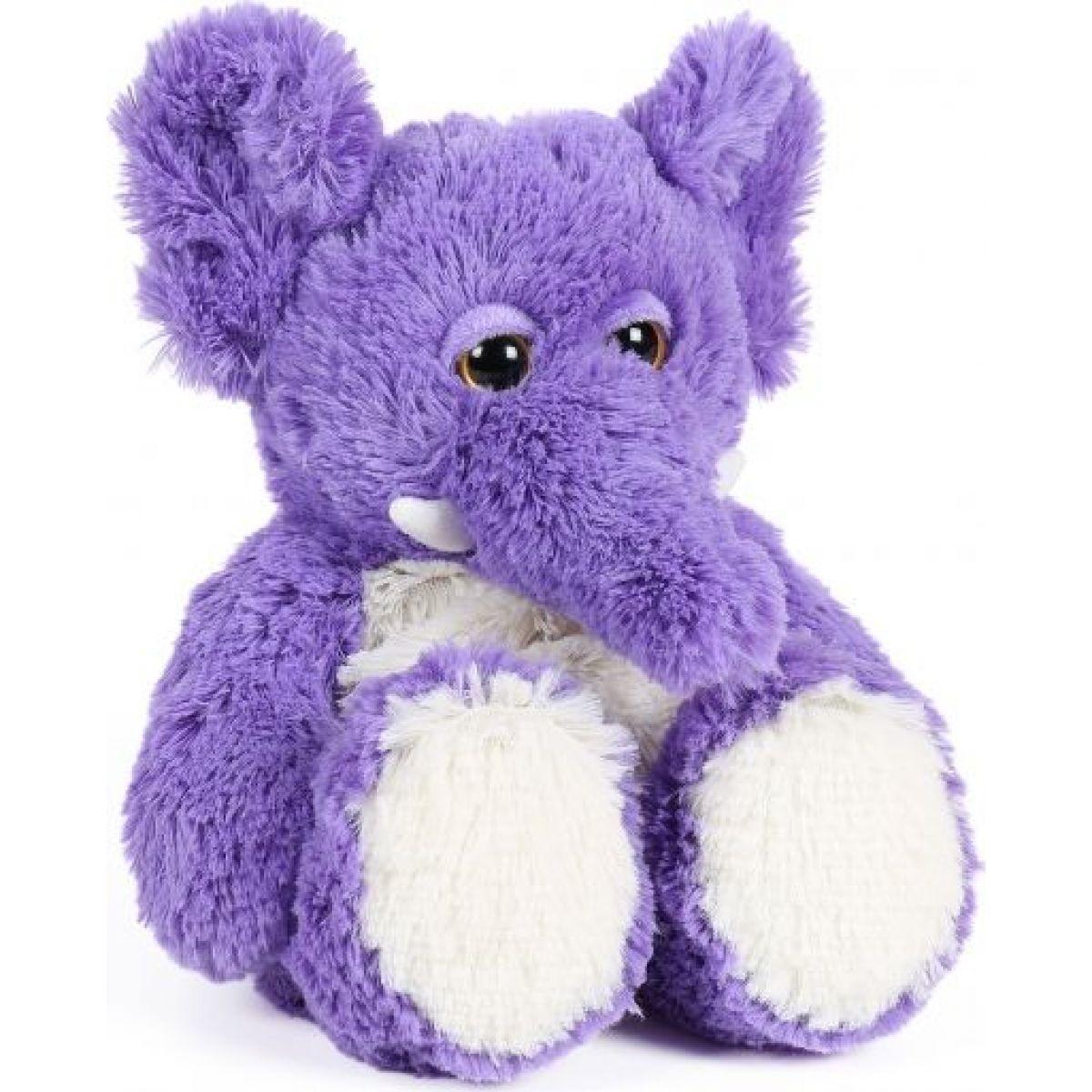 Albi Hřejivá plyšová zvířátka Slon fialový 30 cm
