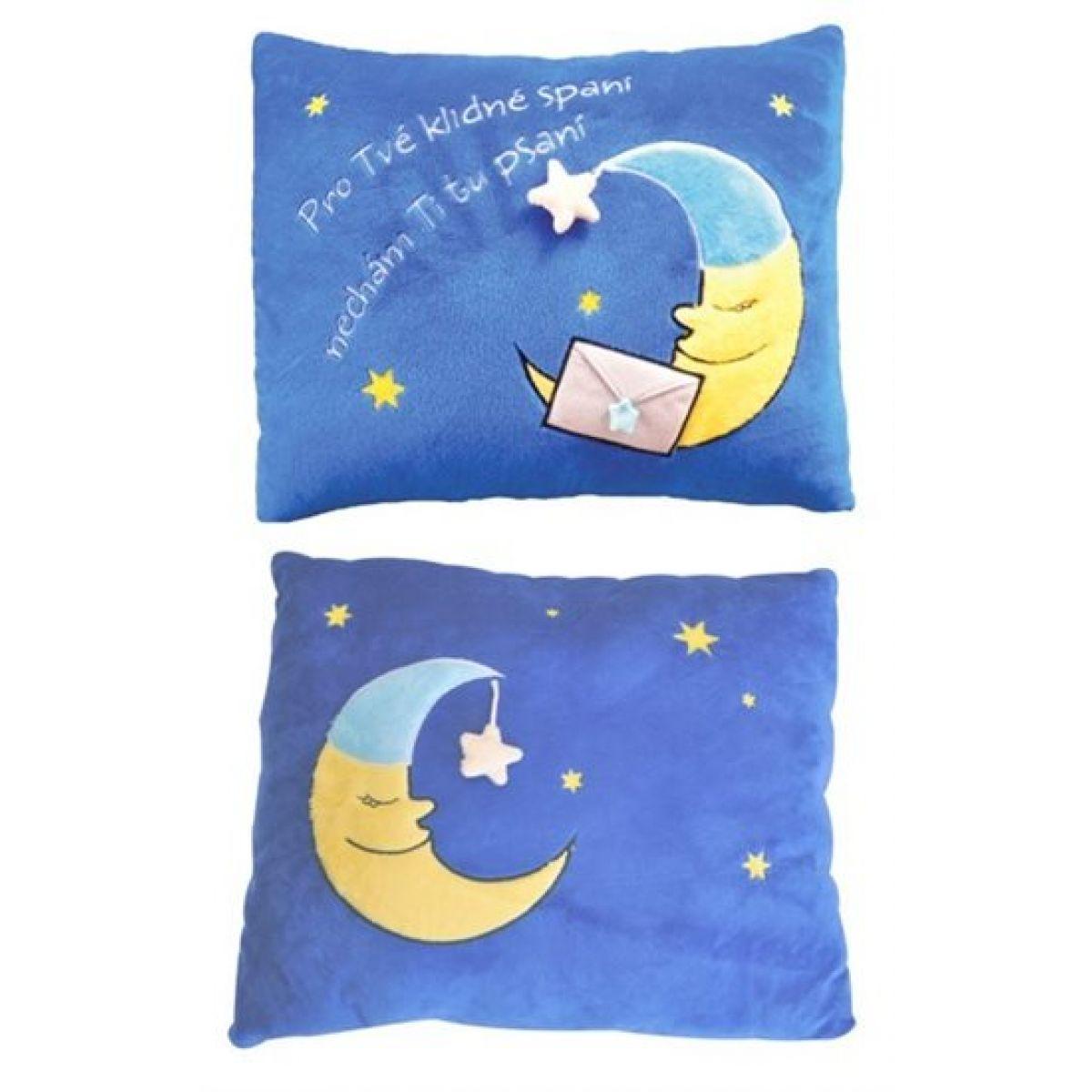Albi Plyšový polštář humorný - Měsíc 42x33cm