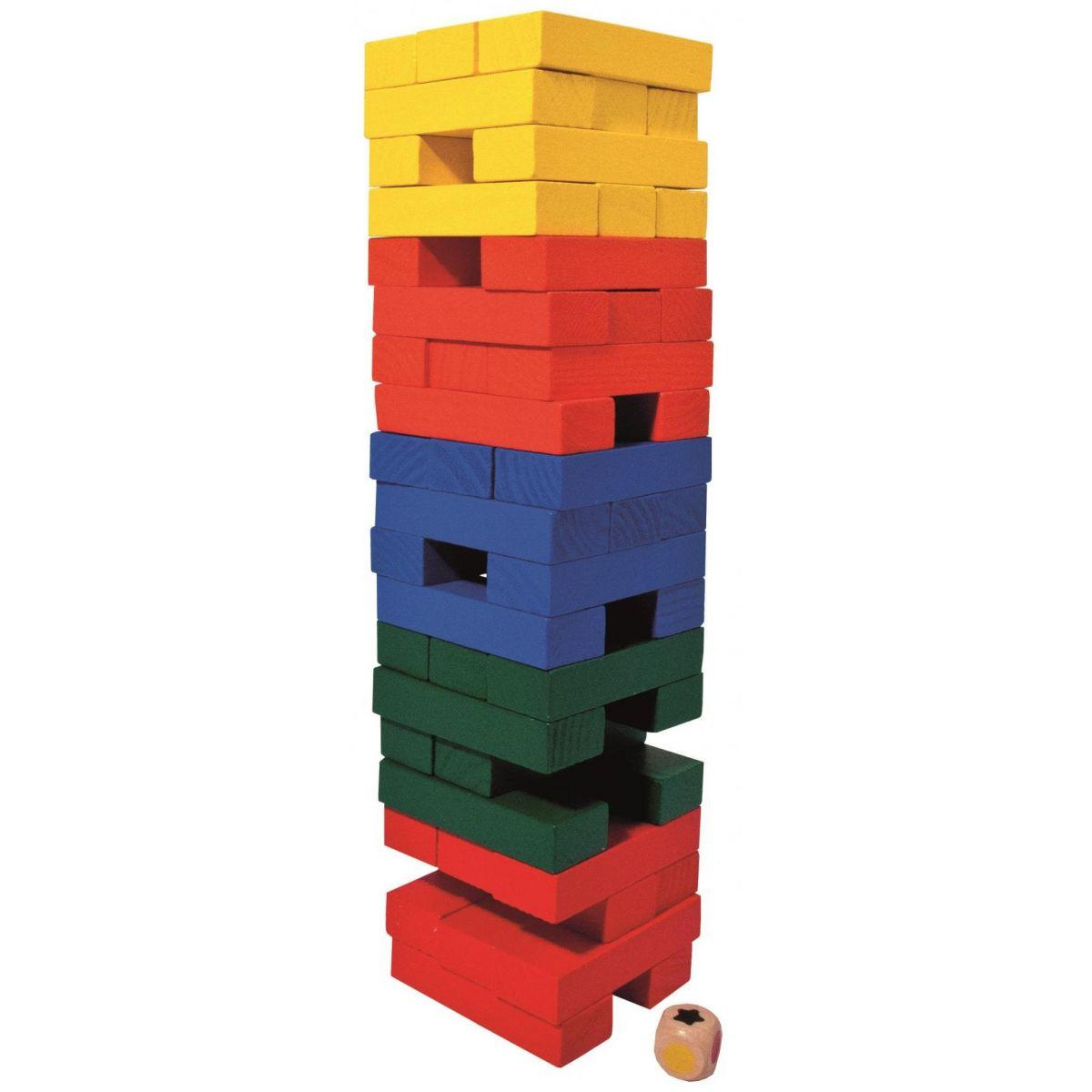 Albi Věž velká barevná s kostkou 32 cm #2