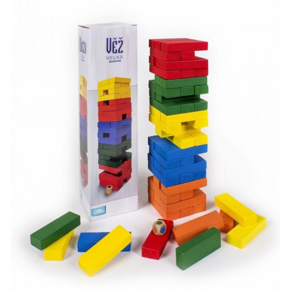 Albi Věž velká barevná s kostkou 32 cm