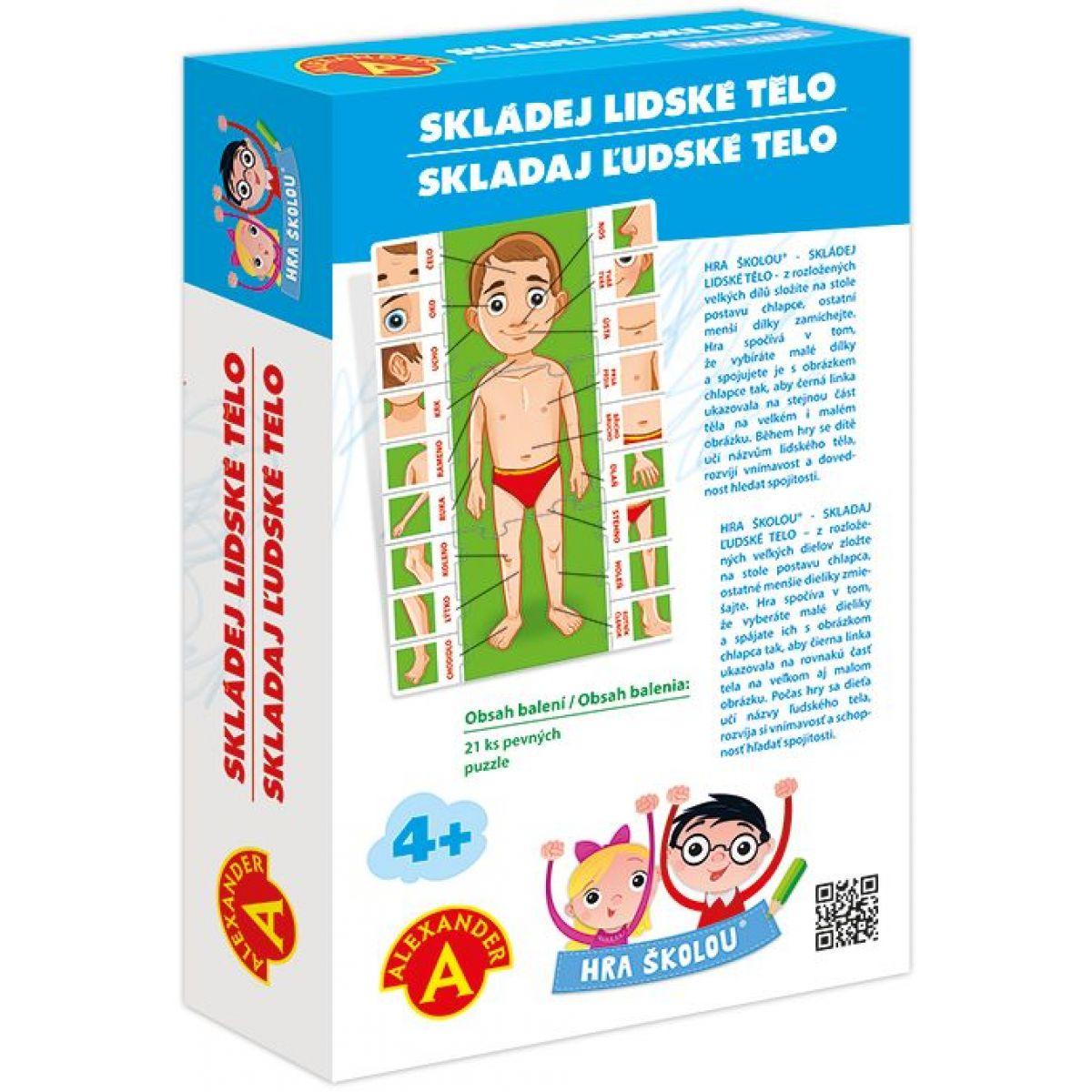 Alexander Hra školou Skládej lidské tělo #2