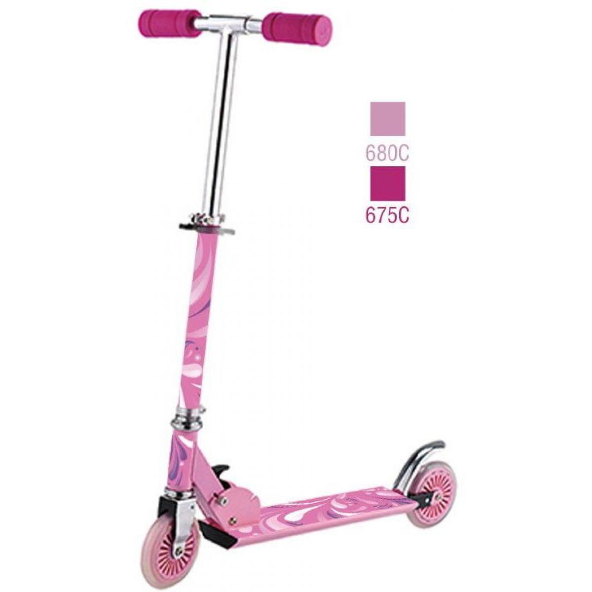 Alltoys Dětská koloběžka Scooter růžová