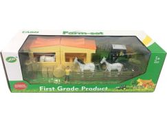 Alltoys Farmářský set koně a stáje