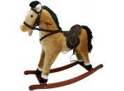 Alltoys Houpací kůň závodní - světle hnědý se zvukem - Poškozený obal