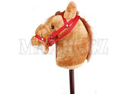 Alltoys Koňská hlava na tyči s uzdou - Světle hnědá