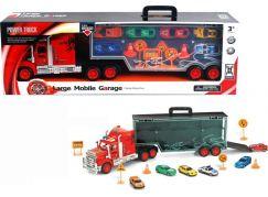Alltoys Mobilní garáž v designu náklaďáku s autíčky