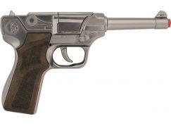Alltoys Policejní pistole stříbrná kovová 8 ran