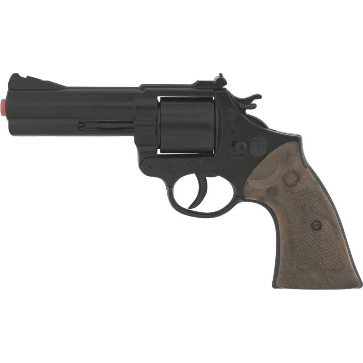 Alltoys Policejní revolver černý kovový 12 ran