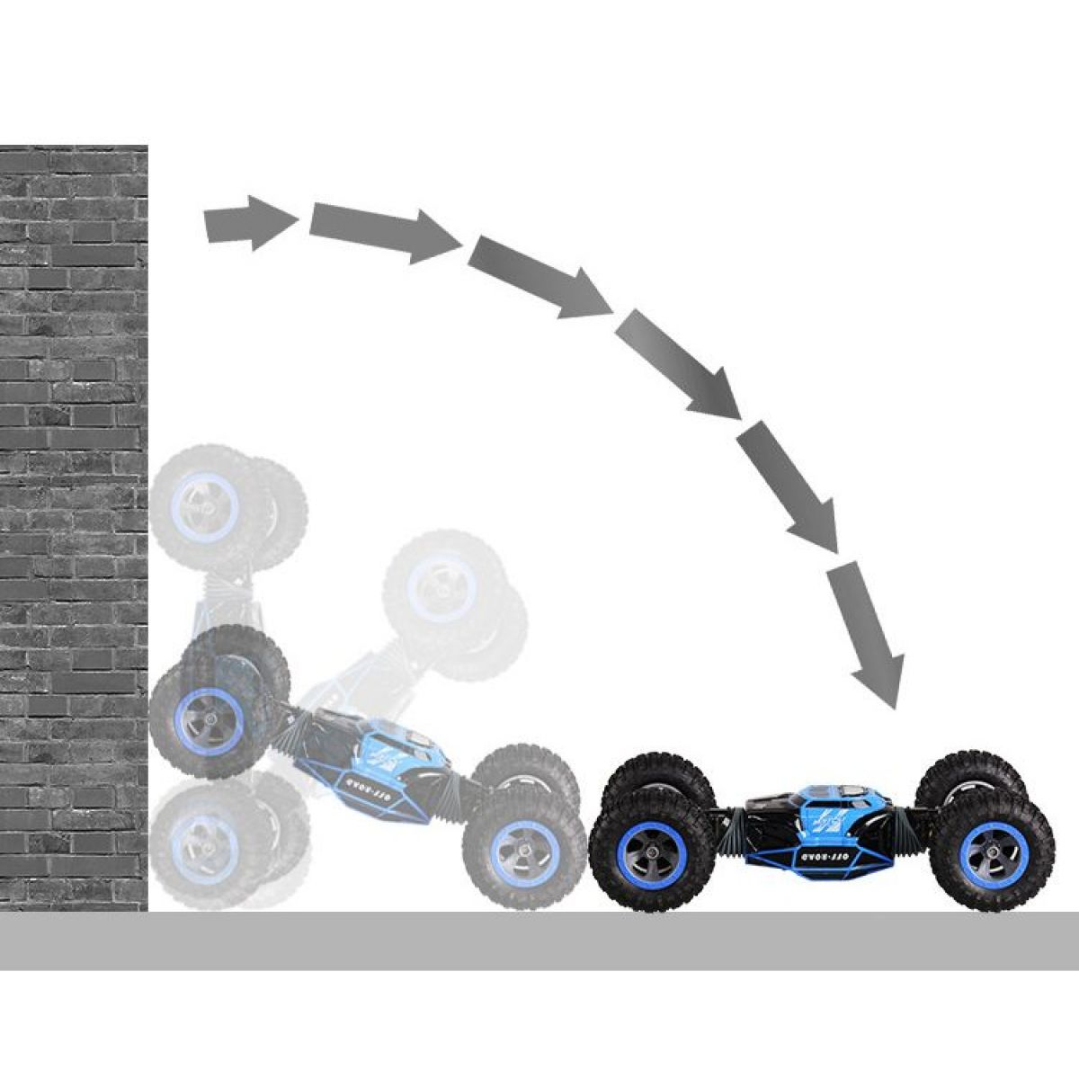 Alltoys RC trikové auto 1:12 modré #2