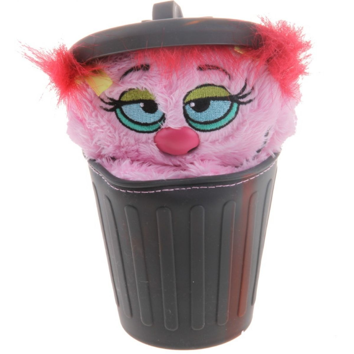 Alltoys Stinky Plyšák z popelnice 12 cm - Růžová
