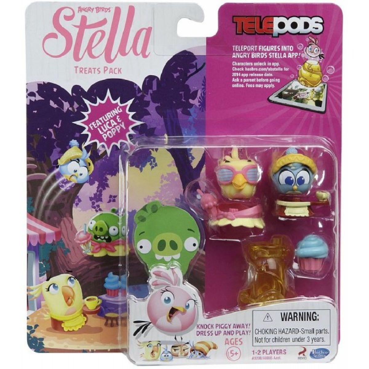 Angry Birds figurky Telepods Stella s rampou - Luca a Poppy