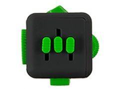 Antistresová kostička Fingr antracit-zelená