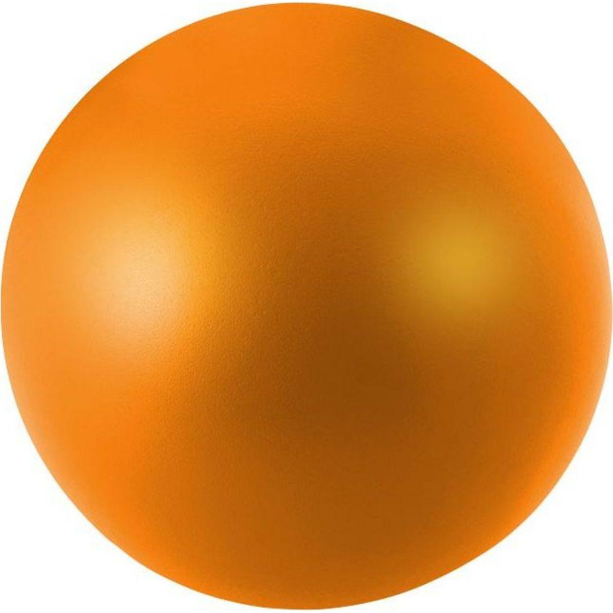 Antistresový míček 11cm svítící ve tmě oranžový