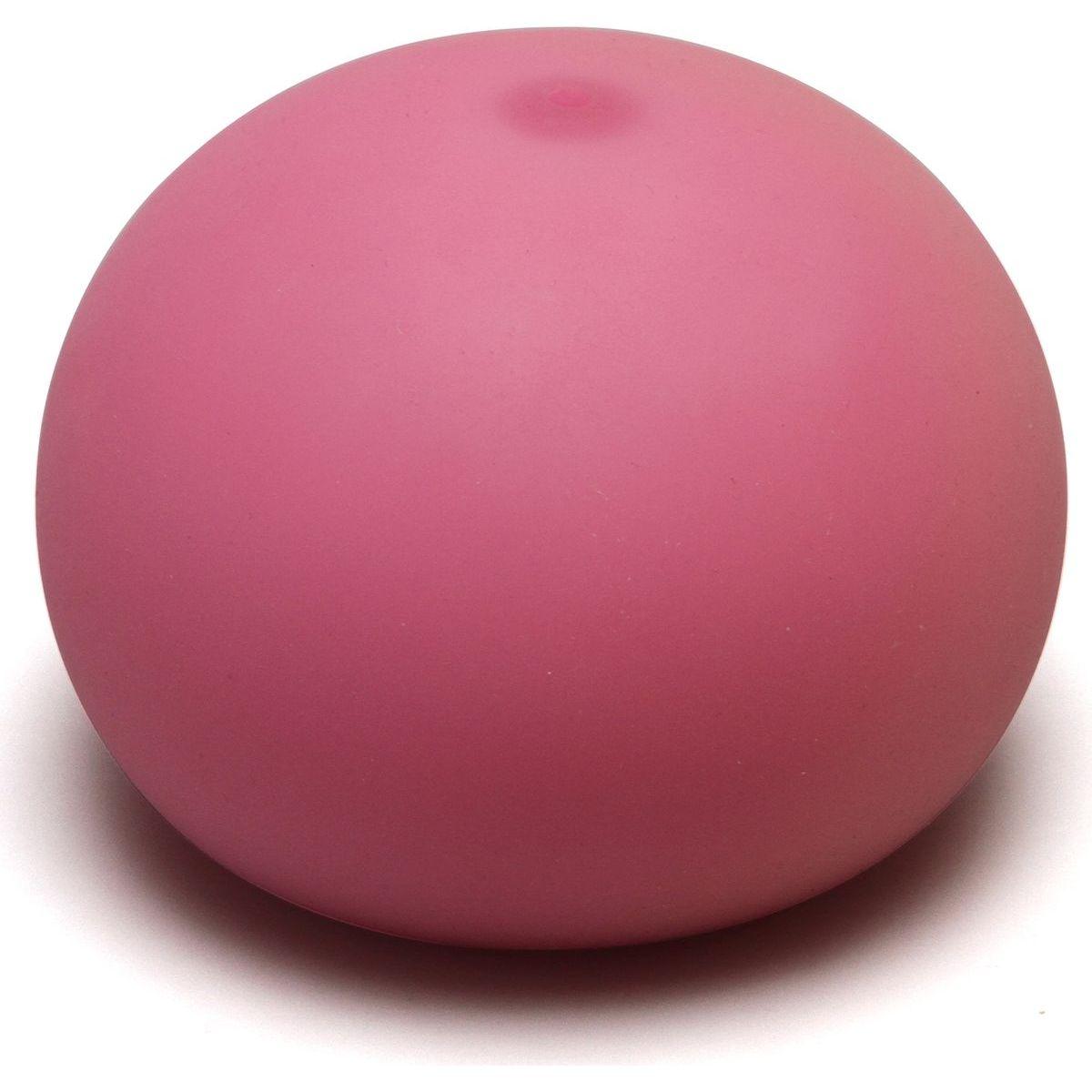 Antistresový míček 11cm svítící ve tmě růžový