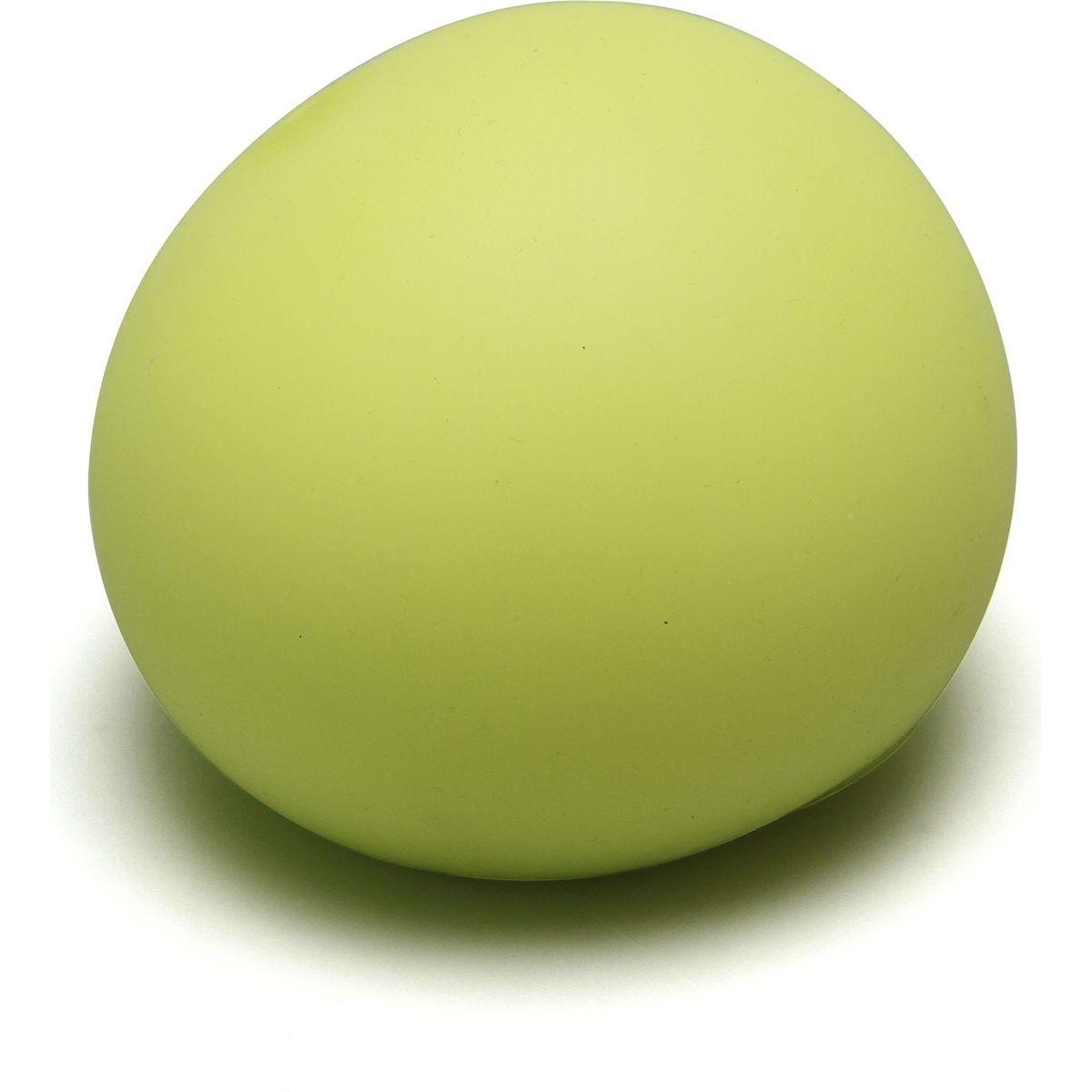 Antistresový míček 11cm svítící ve tmě žlutý