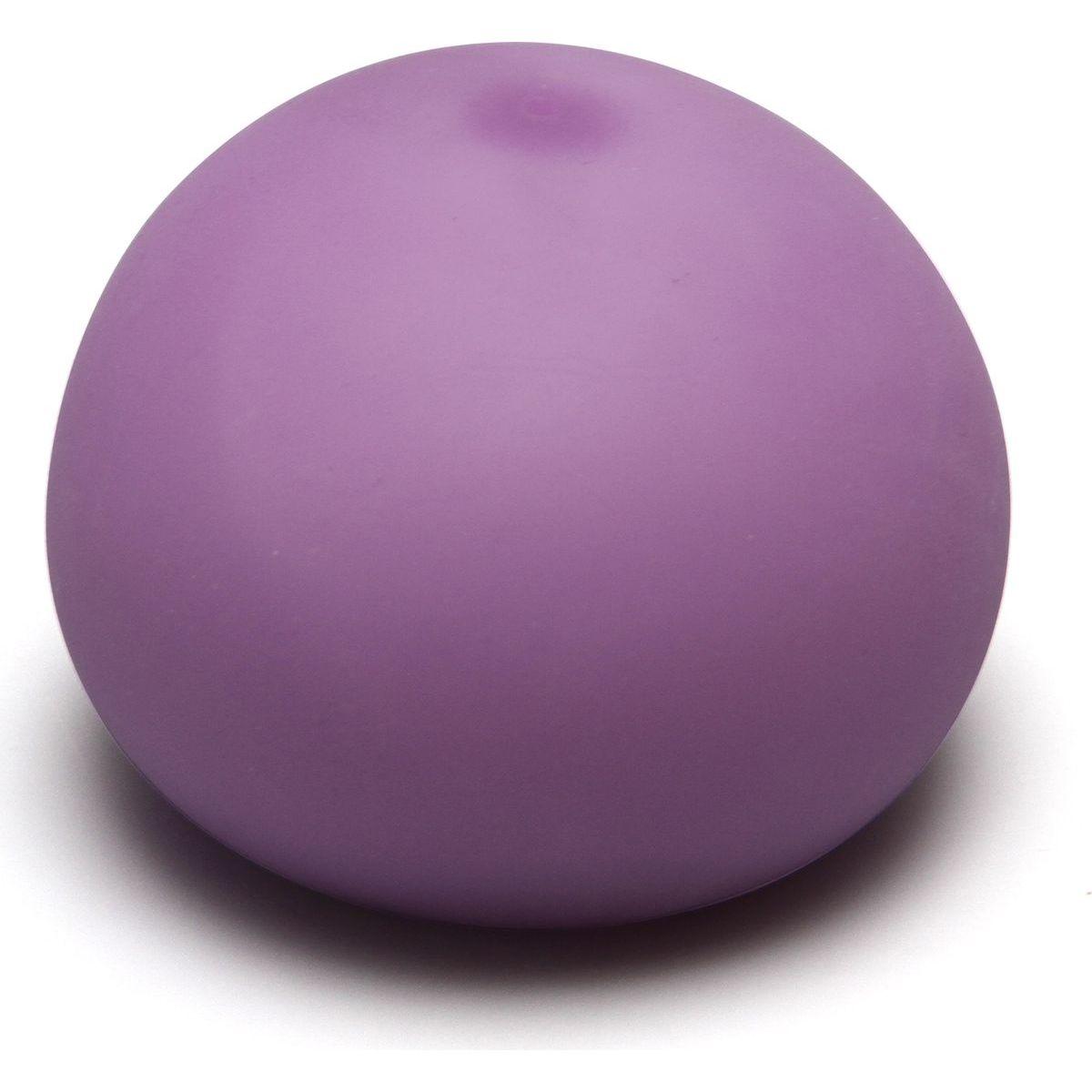 Antistresový míček 11cm svítící ve tmě fialový