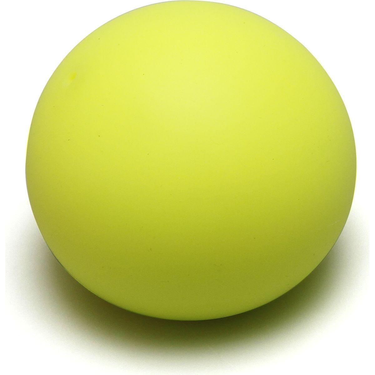 Antistresový míček 6,5 cm svítící ve tmě žlutý
