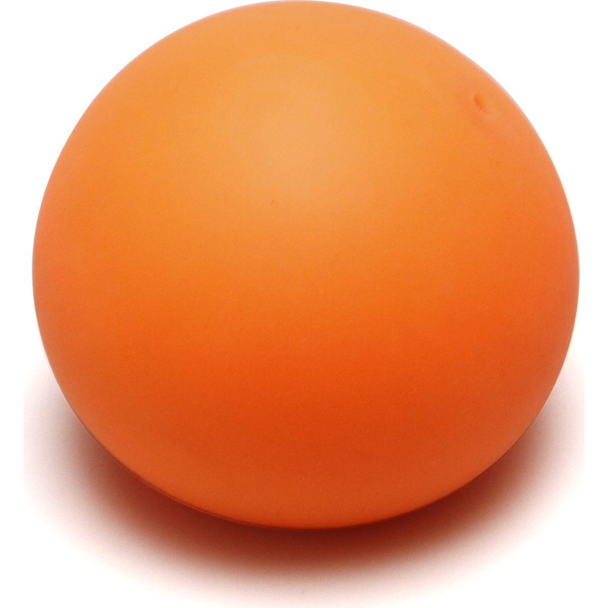 Antistresový míček 6,5 cm svítící ve tmě oranžový