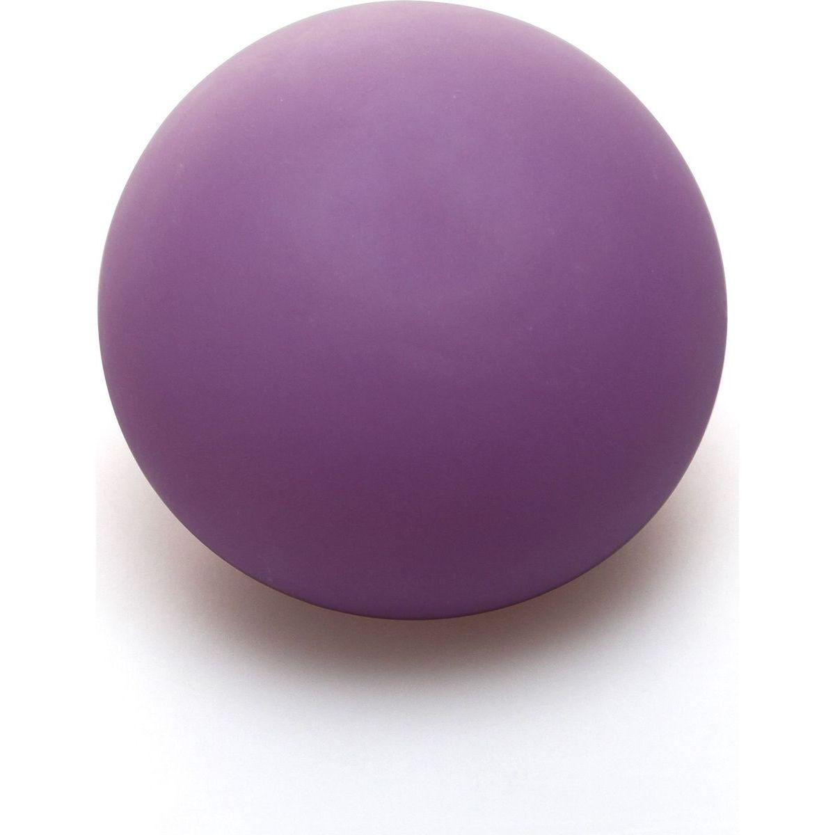 Antistresový míček 6,5 cm svítící ve tmě fialový