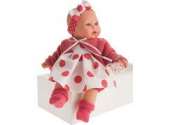 Antonio Juan 1117 Kika realistická panenka se zvuky a měkkým látkovým tělem 27 cm