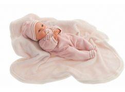 Antonio Juan 14155 Bimba mrkací panenka miminko se zvuky a měkkým látkovým tělem 37 cm