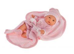 Antonio Juan 1452 Bimba mrkací panenka miminko se zvuky a měkkým látkovým tělem 37 cm