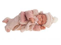 Antonio Juan 1787 Luni spící realistická panenka miminko se speciální pohybovou funkcí a měkkým látkovým tělem 29 cm