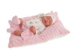 Antonio Juan 3348 Luna spící realistická panenka miminko s měkkým látkovým tělem 40 cm