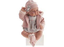 Antonio Juan 3378 Nica realistická panenka miminko s měkkým látkovým tělem 40 cm